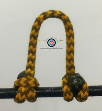 3 Pack- Speckled  Yellow/Black  Archery Release Bow String D Loop,BCY #24