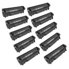 10pk Reman for HP 12A Q2612A Black LaserJet 1012 3015 3020 3030 1010 1020 1022