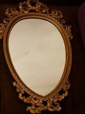Vintage ROCOCO Style Gold Resin Cast Wall Mirror
