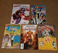 lot of 5 older comic's books Captain America PeaceMaker Teen Titans Starman