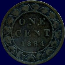 1884 Canada Large 1 Cent Coin