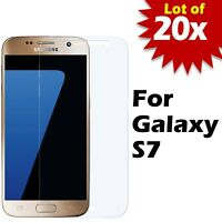 Lot of 20 - Tempered Glass Film Screen Protector for Samsung Galaxy S7