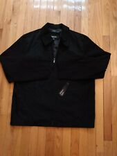 NWT Men's Claiborne Polytech Spring Lightweight Jacket in Black, Size Large