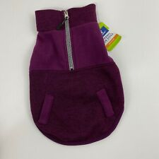 Top Paw Fleece Dog Sweater Coat Purple 1/2 Zip New