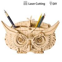 ROBOTIME DIY Owl Box Wood Craft Model Kits -3D Wooden Puzzle Wood Arts Projects