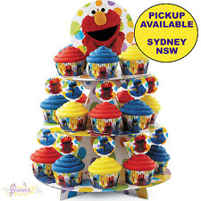 SESAME STREET PARTY SUPPLIES WILTON ELMO CAKE CUPCAKE STAND TREAT HOLDER