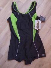 NEUER,grau-grüner GWINNER Sportbadeanzug,44,Ideale Passform,best. UV+Chlor