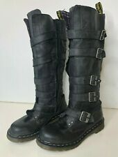 Dr. Martens Phina The Walking Dead Black Leather Moto Buckle Boot Women's US 6 L