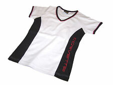 Corvette Juniors T-Shirt White Black & Red Small