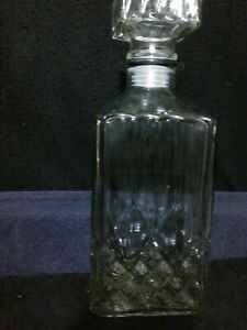 800ML SQUARE GLASS WINE BOTTLE OR WHISKY DECANTER