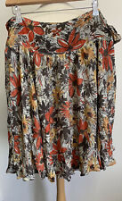 Ladies Toast Silk Wrap Over Skirt Size 14
