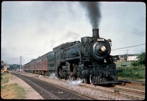 138-16 Colour Slide Canadian Pacific 4-6-2 Steam Locomotive #1229