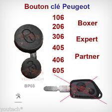 MEMBRANE BOUTON POUSSOIR CLE PLIP PEUGEOT 106 206 306 405 406 605 2 BOUTONS