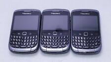 LOT OF 3 GOOD UNLOCKED AT&T & T-MOBILE BLACKBERRY CURVE 9300 QWERTY KEYPAD