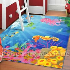 WHIZZ KIDS VIVID UNDER THE SEA FUN FLOOR RUG 133x200cm **CRYSTAL CLEAR IMAGERY*