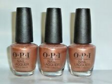 "3 Pack Opi ""Worth A Pretty Penne"" Lacquer Nail Polish 0.5 fl oz Bronze Glitter"
