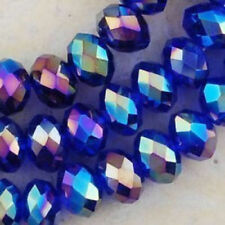 Wholesale Blue AB Crystal Faceted Abacus Loose Bead 3*4mm 147pcs