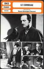 LE CORBEAU - Fresnay,Leclerc,Clouzot (Fiche Cinéma) 1943 - The Raven