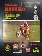 Programmaboekje Motocross Int. 500cc Zijspannen 125cc Markelo (NL) 4 april 1982