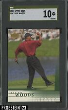 "2001 Upper Deck Golf Tiger Woods SGC 10 PRISTINE "" GOLD LABEL """