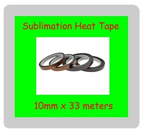 4 x Sublimation Heat Tape 10mm x 33 meters