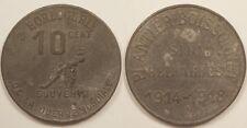 Algérie Française, Horlogerie Plantier Boissonnet, 10 Centimes 1914-1918, Rare !
