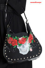 LIVING DEAD SOULS JAWBREAKER Skull Crown Shoulder Bag BGA3806 Roses Tattoo UK.