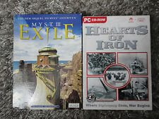 Myst 3 Exile & Hearts of Iron SMALL BOX PC CD Rom Game bundle Boxed