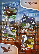 Guinea 2015 MNH Pigeons 4v M/S Birds Doves Carneau Pomeranian Pouter Stamps