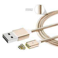 Gold 2.4A Micro USB Charging Cable Magnetic Adapter Charger For Android Samsung