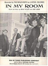 """THE BEACH BOYS """"IN MY ROOM"""" SHEET MUSIC-1963-EXTREMELY RARE-BRAND NEW-MINT-P/V/G"""