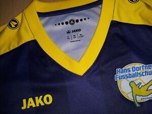 hammer ⚽️ Blau/gelb JAKO Fußballtrikot Trainingsshirt Gr 152 Hans Dorfner