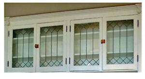 Heritage Lead glass Cabinet  & Kitchen  door inserts