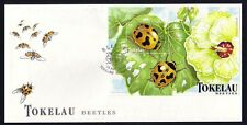Tokelau, Scott cat. 259. Insects as Beetles s/sheet on a First Day Cover.