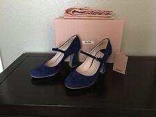 Miu Miu Mary Jane Glitter Heels - Size 38