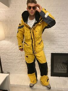 XM Yachting Ocean Technology T 8000 Breathable Jacket And Pants Bib Black Yellow