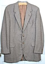 Oxxford Clothes Crown Cashmere Brown Gray Tweed Blazer Sports Coat Jacket 42 T