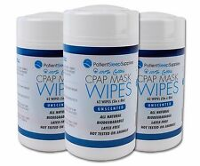 Patient Sleep Supplies CPAP Mask Wipes (Unscented), 3 pack