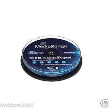M18977 BLURAY MediaRange 50gb 10pcs Bd-r Cake 6x Double Layer APOELECTRONICS
