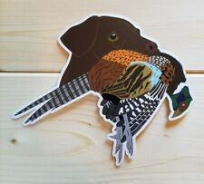 Bird Dog Hunting Stickers Gsp Black Chocolate Yellow Labs English Setters