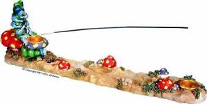 Alice Wonderland Magic Caterpillar Mushroom Incense Stick and Cone burner #2951