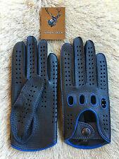 Herren Autofahrer Business Klasse Schwarz Hirschleder Lederhandschuhe