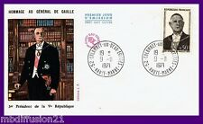 1971//ENVELOPPE.FDC 1°JOUR**GENERAL DE GAULLE-OBL.52.COLOMBEY**TIMBRE..Y/T.1698