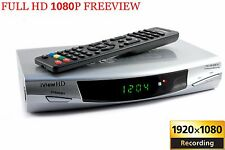 FULL HD Freeview TV Receiver Set Top Box & HD 1080P USB+SD RECORDER HDMI + SCART