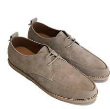 Mens Leisure Suede Leather Shoes Round Toe Work Youth Comfy Breathable Lace up L