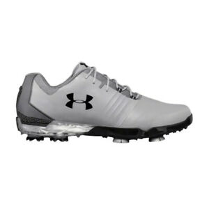 Under Armour Match Play Men's Size 9 Golf Shoes Steel Black Gray 3019893-106