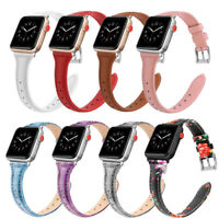 For iWatch Apple Watch Series 3 2 1 42mm Genuine Leather Watch Band Wrist Strap