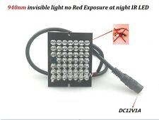 Invisible CCTV 48PCS Leds  Night Vision 940nm IR Infrared Illuminator Light