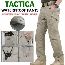 Durable Soldier Tactical Waterproof Long Men Cargo Pants Combat Hiking Outdoor