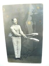 Circus Juggler Real Photo Postcard - Tom